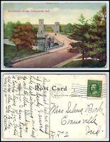INDIANA Postcard - Indianapolis, Emrichsville Bridge D23