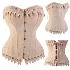 Cosplay Costumes Black Punk Slimming Boned Lace Up Corset Bustier Top Lingeries