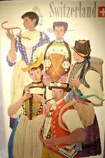 Original 1940s Poster SWITZERLAND by Kurt Wirth - Folk Costumes