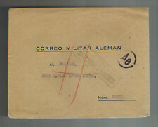 1940s madrid Spain Cover to Blue Division Soldier Russian Front WW 2 Feldpost