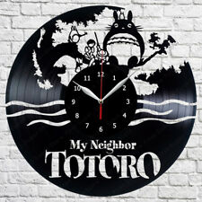 My Neighbor Totoro Vinyl Record Wall Clock Home Art Decor Handmade 12'' 80