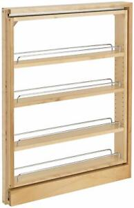 Rev-A-Shelf 432-BF-3C 432 Series 3 Inch Pull Out Base Cabinet - Natural Wood