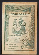 """MUSIQUE & CHANSON pour JEUNE FILLE """"BEAU DEFAUT"""" par Ed. TEYSSONNEAU"""