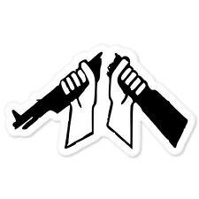 "Broken Rifle Peace Anti-Violence bumper sticker 3"" x 6"""
