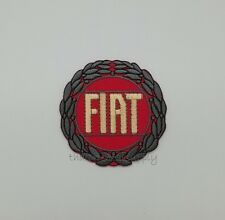 Fiat Patch Embroidered Sew Iron On Automobile Racing Badge Car Logo DIY