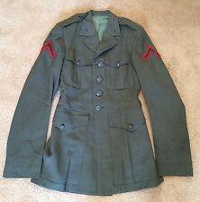 "~GENUINE USMC MARINE CORP ALPHA DRESS GREENS JACKET COAT CHEST 34"" WOOL"