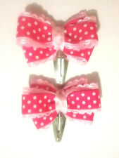 Baby hair clips - HOT PINK (BHC03)