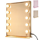 Lighted Hollywood Vanity Mirror Halloween Makeup w/ Dimmable LED Bulbs Tabletop