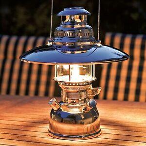 Petromax HK 500 Starklichtlampe Messing verchromt poliert mit Schirm