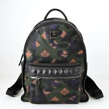 $595 MCM Green Small Dieter Backpack in Munich Lion Camo Nylon MUK7ADT02GX001