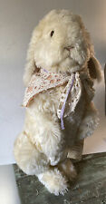 """LG 24"""" white rabbit- Artist Handmade Bunny Wendy Brent Noses of Roses  w/tags"""
