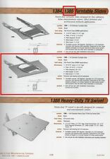 K&V #1385 HEAVY-DUTY TURNTABLE SLIDE, BLACK-PAINTED, 200-POUND CAPACITY