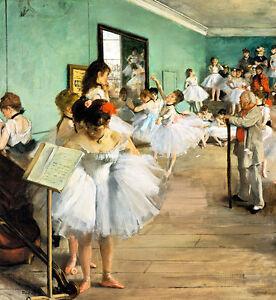 The Dance Class by Edgar Degas A2+ High Quality Canvas Print