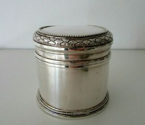 ANTIQUE FRENCH STERLING SILVER TEA CADDY BOX 112 GR