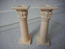 French decorative porcelain pillar candlesticks