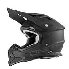 Oneal 2Series RL Motocross Bike Crash Helmet Flat Adjustable Peak Matt Black L