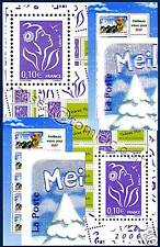 TIMBRES PLUS 10c LAMOUCHE 2 TIRAGES + BF VOEUX RE ENTRY