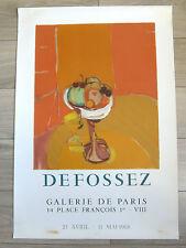 Affiche originale Litho DEFOSSEZ Mourlot 68 Nature morte aux fruits