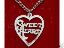 LOOK Sterling Silver Sweet Heart Pendant Charm