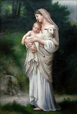 Bouguereau, Adolphe William L'Innocence Repro Hand Painted Oil Painting 24x36in
