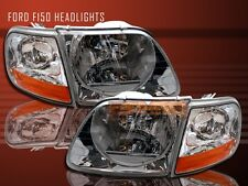 1997-2002 EXPEDITION 97-02 03 FORD F 150 F-150 CHROME HEADLIGHTS + CORNER LIGHTS