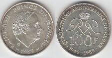 Gertbrolen MONACO 100 Francs Argent  40 Ans du Règne de  Rainier III 1989 N° 7