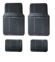 Fußmatten Schwarz Autoteppiche 4tlg. Gummi Matten Auto KFZ Universal Gummimatten