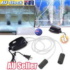 AU 2Pcs Air Bubble Disk Stone Aerator Aquarium Fish Tank Pond Oxygen Pump NEW