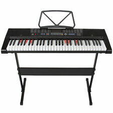 Best Choice Products Teaching Electronic Keyboard Piano Set 61 Lighted Keys LED