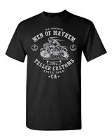 Teller Customs Cycle Shop Motorcycle Anarchy Series Novelty Adult DT T-Shirt Tee