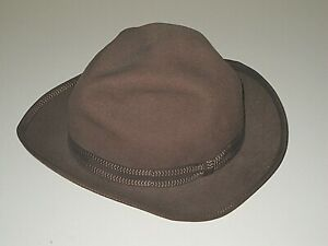VINTAGE 50s JIM PENNEY J.C. 100% WOOL BROWN FEDORA HAT FOR BOY'S SIZE 6 3/8