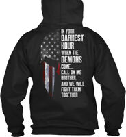 Patriotic Hour M 0017 - In Your Darkest When The Demons Gildan Hoodie Sweatshirt