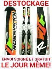 "ski enfant ROSSIGNOL ""RADICAL JUNIOR"" taille:150cm+fixations COMME NEUF !!!!!!!!"