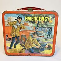 EMERGENCY! 1973 Aladdin Metal Tin Lunchbox No Thermo Cup Included