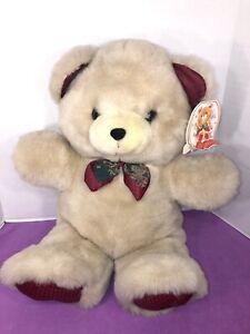 """NWT-VINTAGE-24"""" Teddy Precious Dan Dee Cream Tan Beige Teddy Bear Plush"""