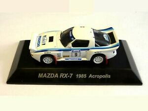 WOW EXTREMELY RARE Mazda RX-7 S 4WD Turbo #9 Acropolis 1985 WRC 1:64 CM's Kyosho