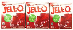 Cranberry JELL-O ~ Jello Dessert ~ LIMITED TIME ~ Lot of 3