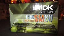 TDK Pro SM60 High Bias Cassette Tape for 4 Track Recorder Unopened Set of 3