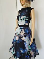 COAST GORGEOUS FIT&FLARE SUMMER DRESS SIZE 14 WORN ONCE IMMACULATE BEAUTIFUL