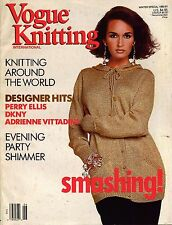 VOGUE KNITTING Winter 1990-91 Holiday Evening Russian Folk Floral Sweaters