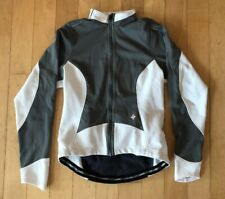 Womans Specialized Bicycle Full Zip Jacket Sz M White And Gray