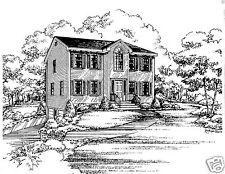 3 Bdrm 1 1/2 Bath 1544 SF/ Opt 2 Car Garage Under Colonial House Building Plan