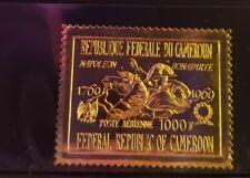 Cameroun Stamp - #C126 -Napoleon Crossing Saint Bernard - Gold Foil -MNH XF 1969