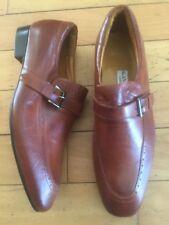Men's Alan Chan Couture Brown Dress ShoesWith Buckle Size 8