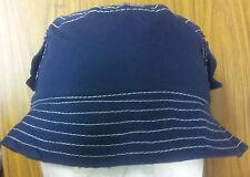 Boys Cotton Bucket hat navy 50 to 52cm Free Post Aust