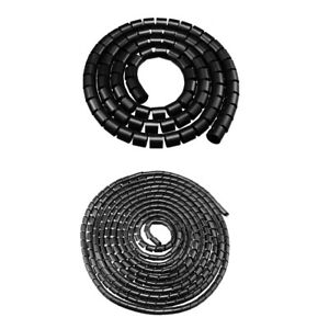 4mm-40mm Dia Flexible Spiral Tube Cable Wire Wrap Computer Manage Cord Black