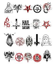 Satanic Nail Art (water decals) Witchcraft Nail art Witch Nail Decals Satan Nail