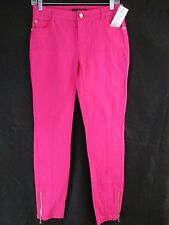 ETCETERA WOMEN'S PASSION PINK MARILYN FIT PANTS SIZE: 0     F1