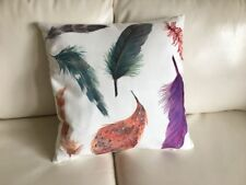 """Throw Pillow Cover Country Feather Digital Print 17"""" X 17"""" - Sofa Cushion Cover"""