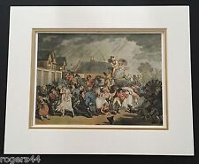 """Vintage Art Print """"A Sudden Squall in Hyde Park"""" Thomas Rowlandson 12.75 """"x 9.5"""""""
